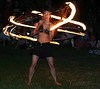 Full moon fire spinning, Foster Beach :